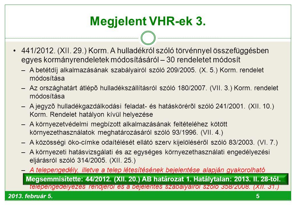 Megjelent VHR-ek 3.