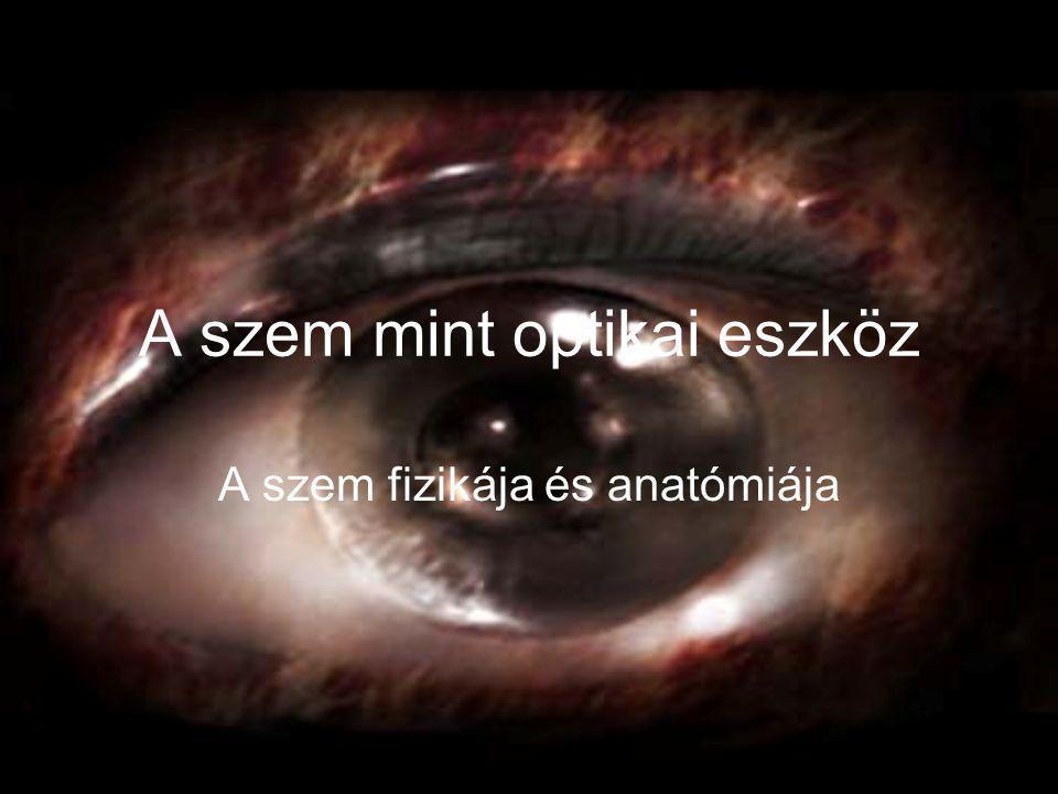 A szem mint optikai eszköz