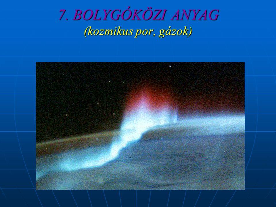 7. BOLYGÓKÖZI ANYAG (kozmikus por, gázok)
