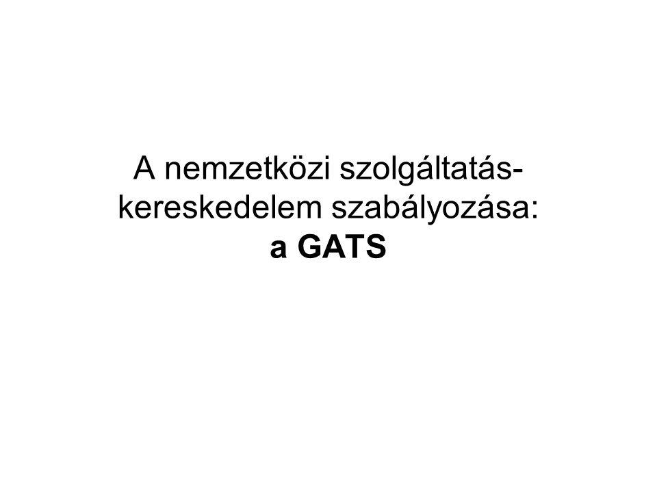 A nemzetközi szolgáltatás-kereskedelem szabályozása: a GATS