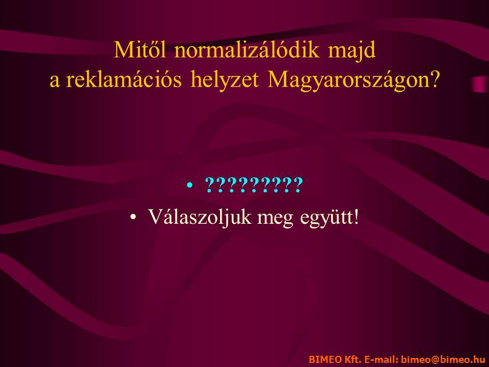 Mitől normalizálódik majd a reklamációs helyzet Magyarországon