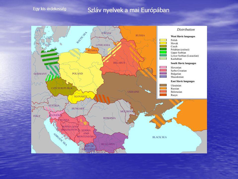 Szláv nyelvek a mai Európában