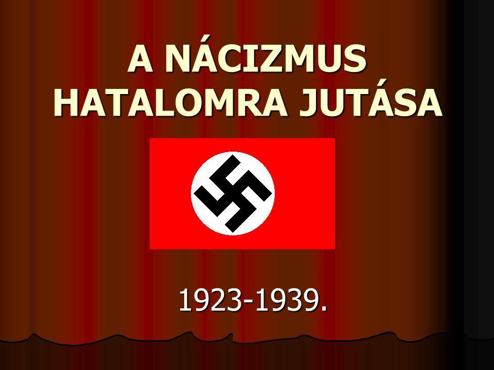 A NÁCIZMUS HATALOMRA JUTÁSA