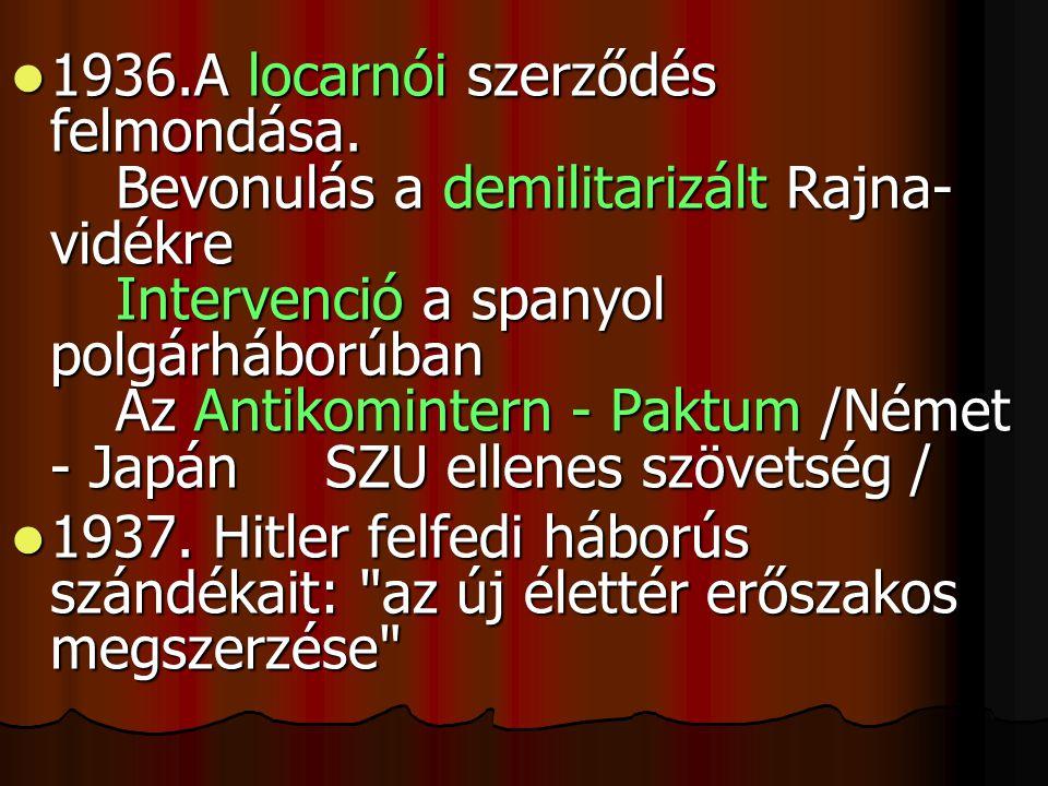 1936. A locarnói szerződés felmondása
