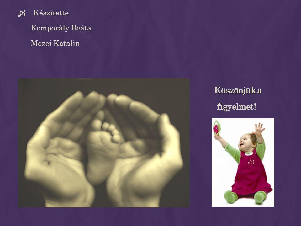 Készítette: Komporály Beáta Mezei Katalin Köszönjük a figyelmet!