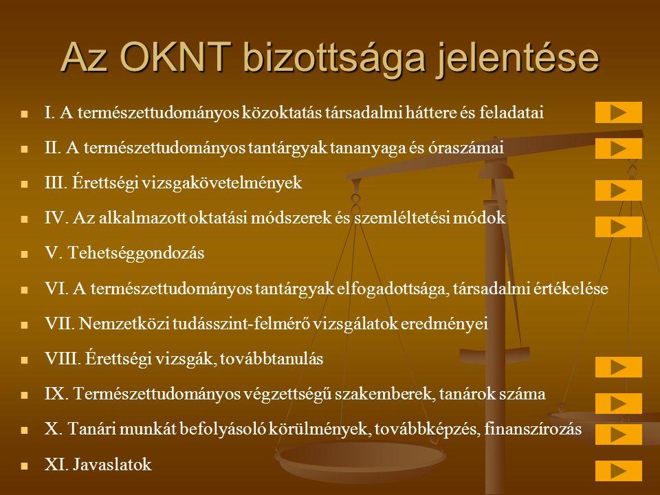 Az OKNT bizottsága jelentése