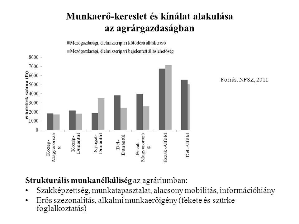 Munkaerő-kereslet és kínálat alakulása az agrárgazdaságban