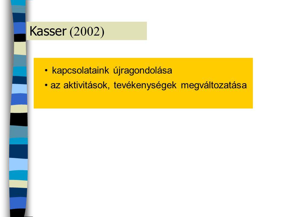 Kasser (2002) • kapcsolataink újragondolása