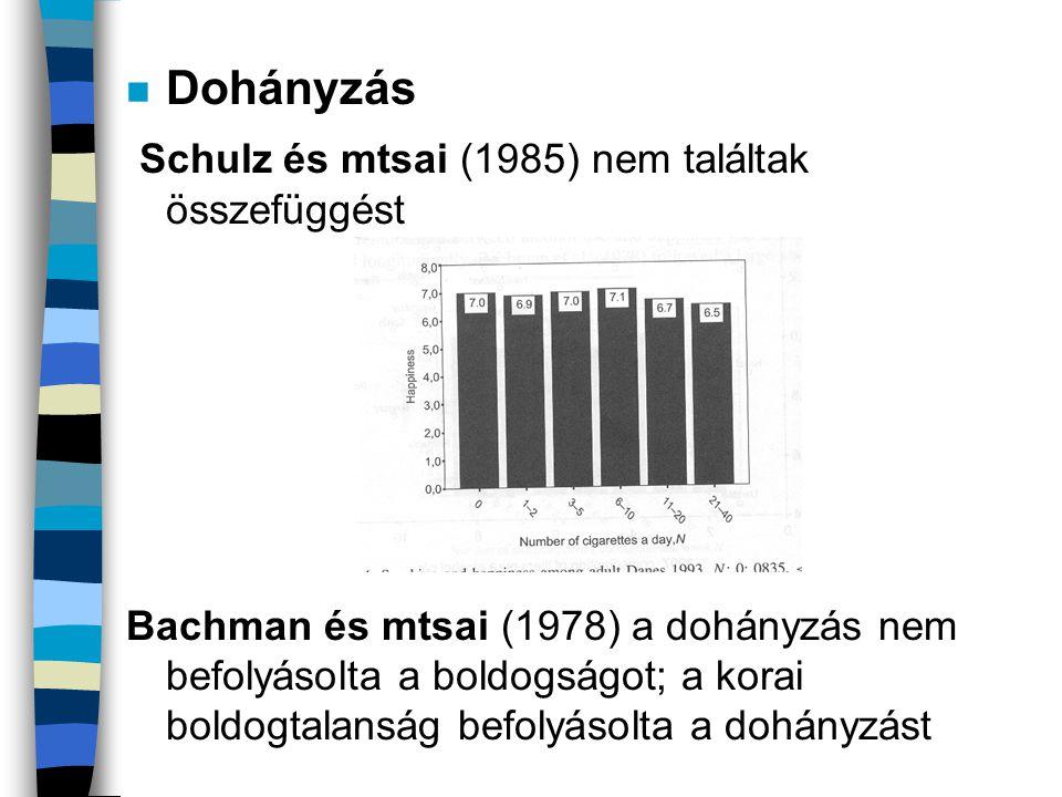 Schulz és mtsai (1985) nem találtak összefüggést