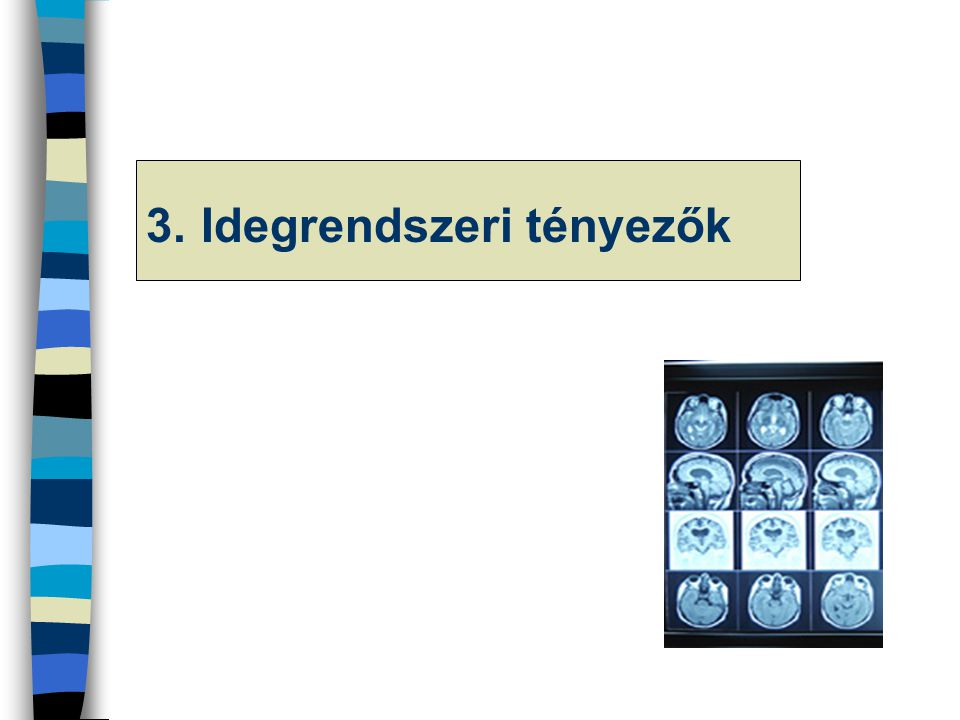 3. Idegrendszeri tényezők