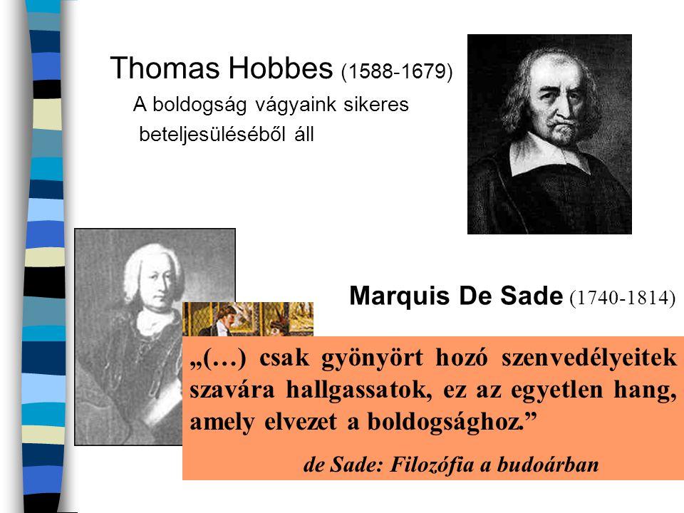Thomas Hobbes (1588-1679) Marquis De Sade (1740-1814)