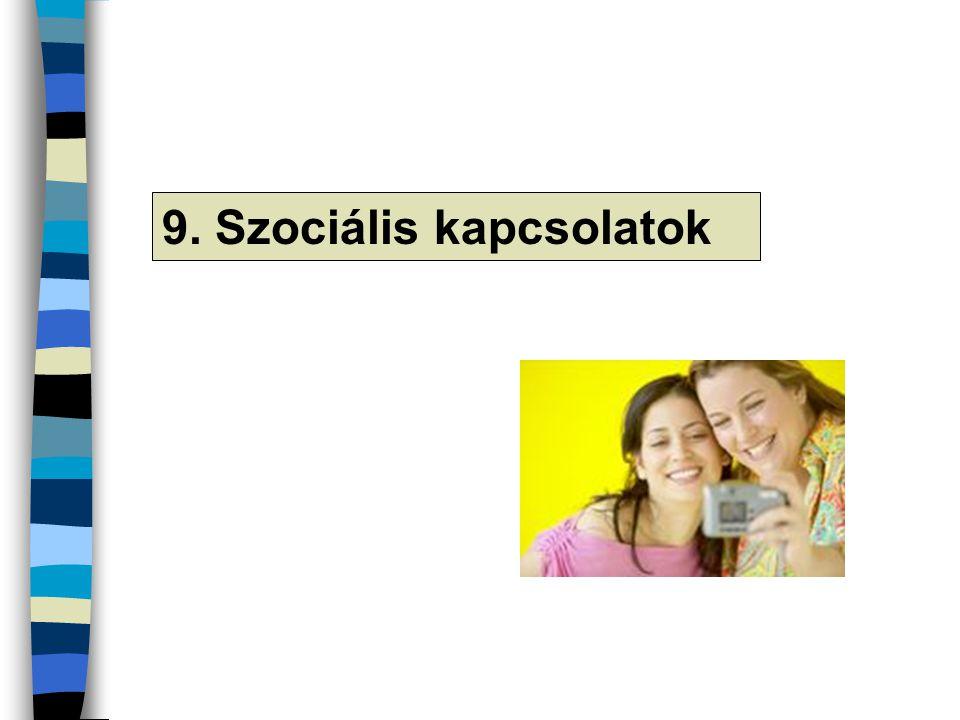 9. Szociális kapcsolatok