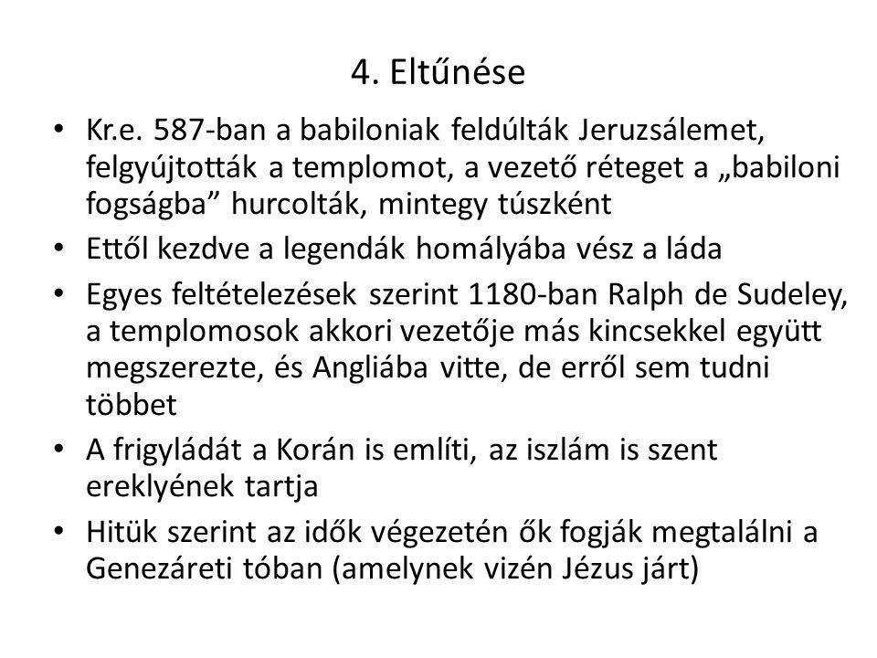 4. Eltűnése