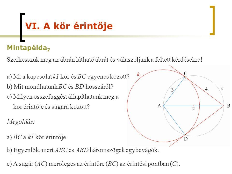 VI. A kör érintője Mintapélda7