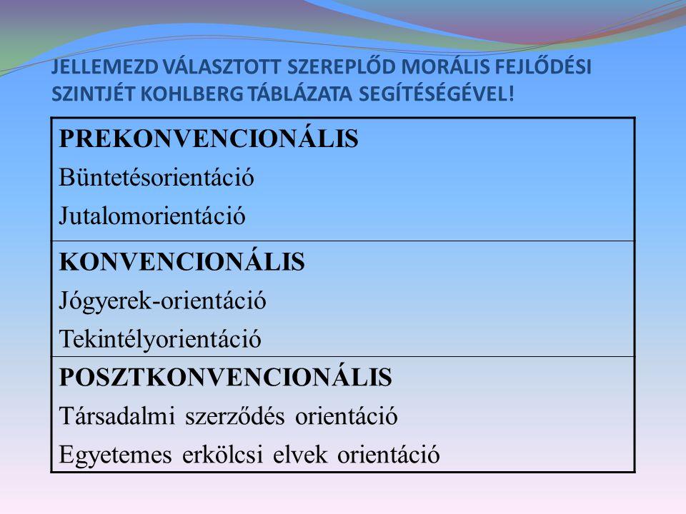 Társadalmi szerződés orientáció Egyetemes erkölcsi elvek orientáció