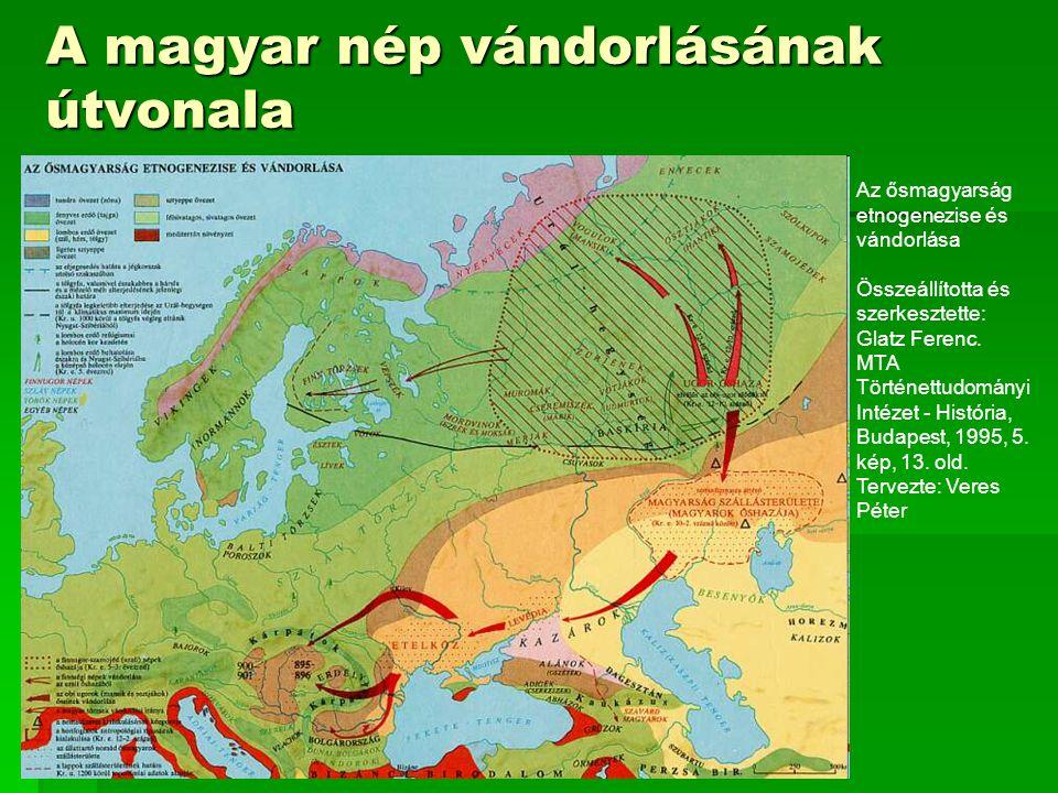 A magyar nép vándorlásának útvonala