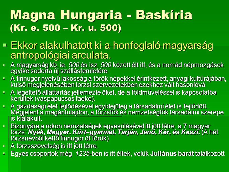 Magna Hungaria - Baskíria (Kr. e. 500 – Kr. u. 500)