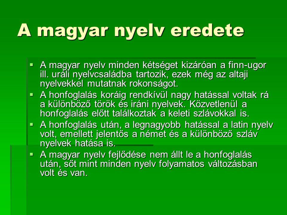 A magyar nyelv eredete