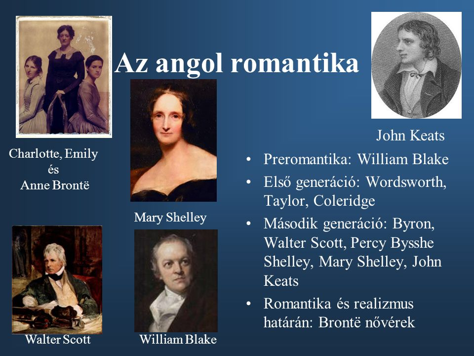 Az angol romantika John Keats Preromantika: William Blake