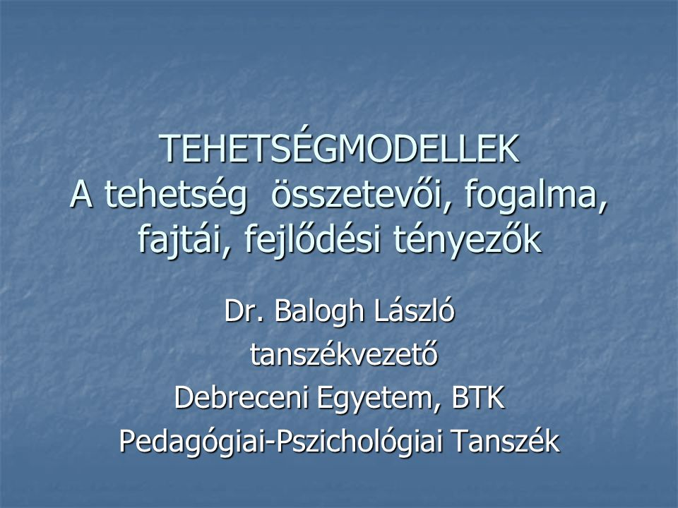 Pedagógiai-Pszichológiai Tanszék