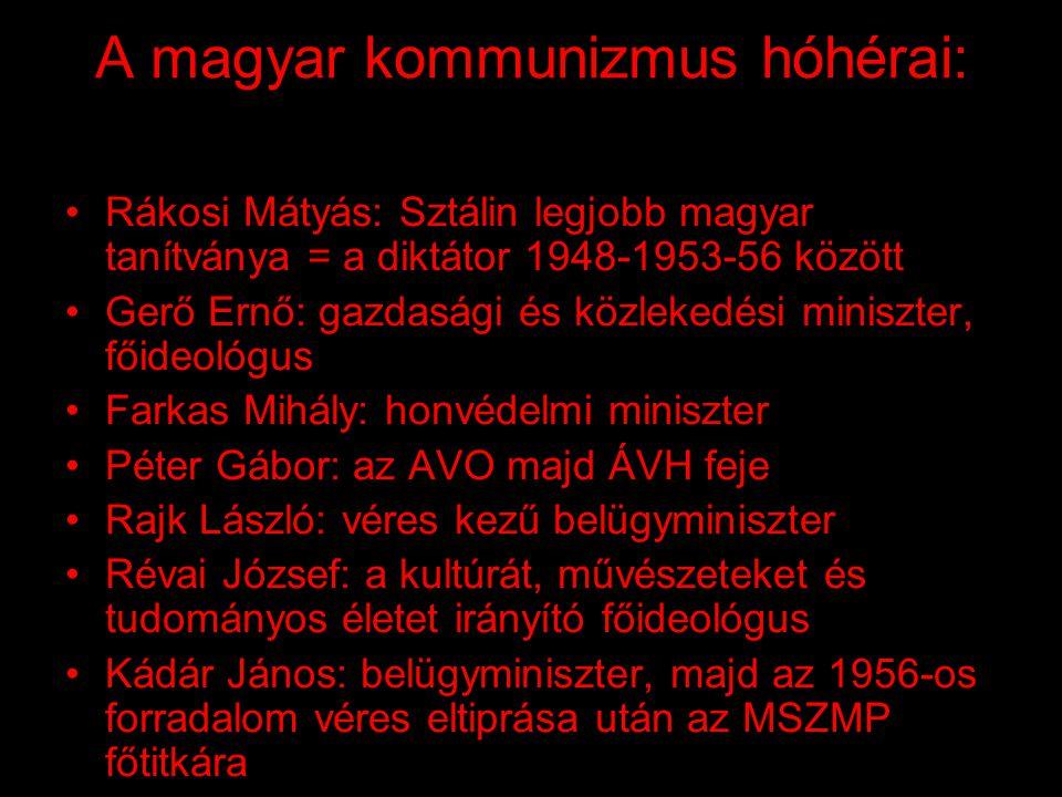 A magyar kommunizmus hóhérai: