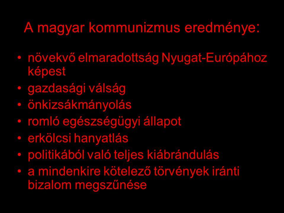 A magyar kommunizmus eredménye: