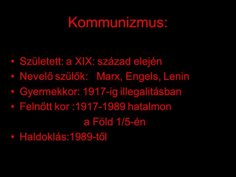 Kommunizmus: Született: a XIX: század elején