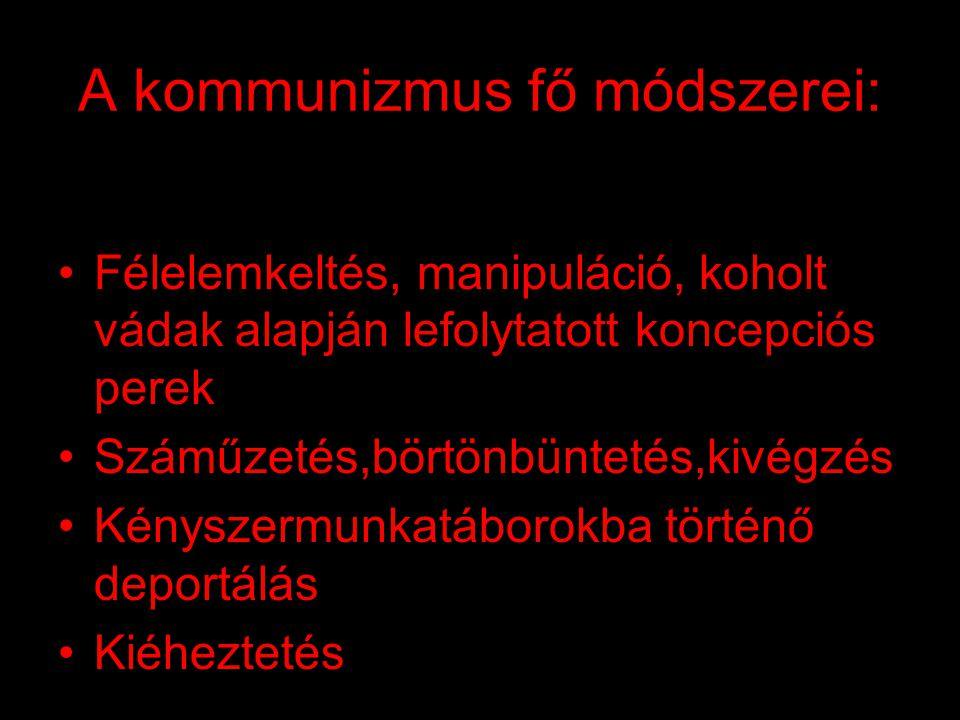 A kommunizmus fő módszerei: