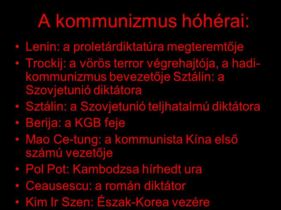 A kommunizmus hóhérai: