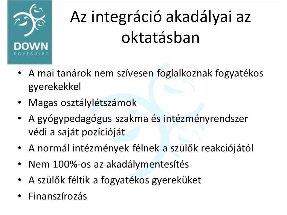 Az integráció akadályai az oktatásban