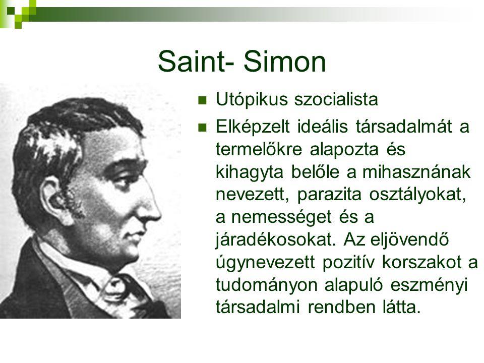 Saint- Simon Utópikus szocialista