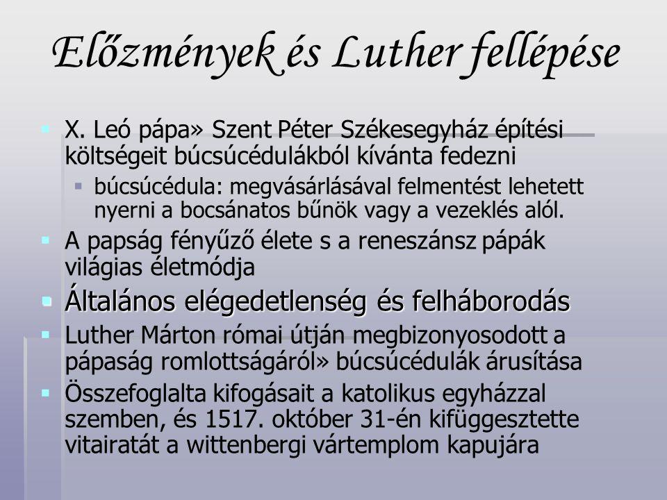 Előzmények és Luther fellépése
