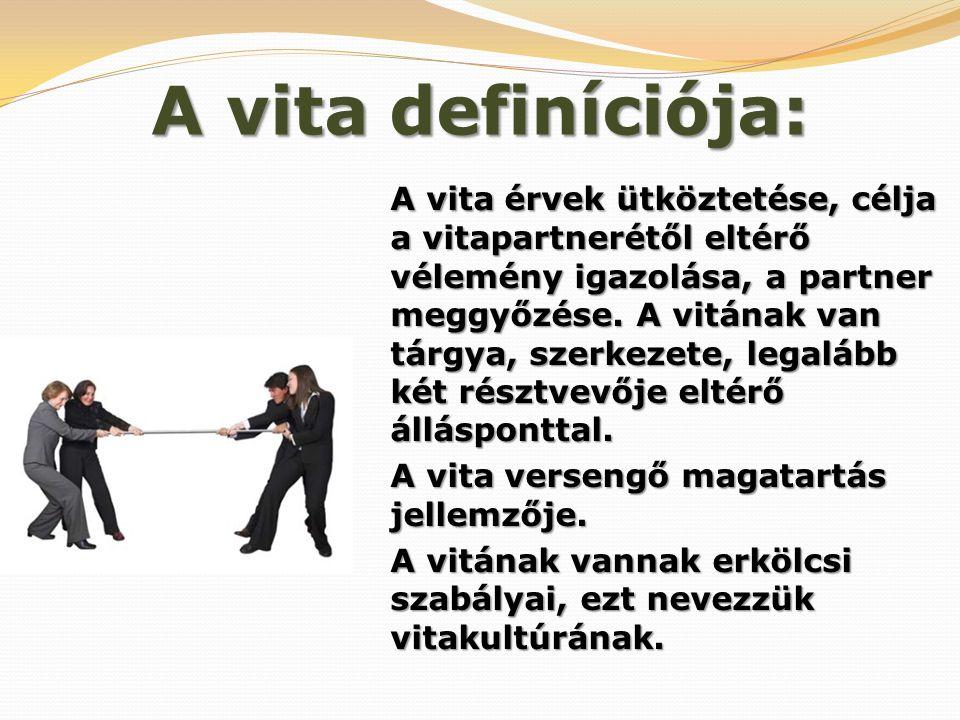 A vita definíciója: