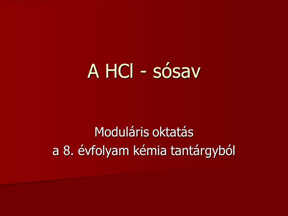 Moduláris oktatás a 8. évfolyam kémia tantárgyból