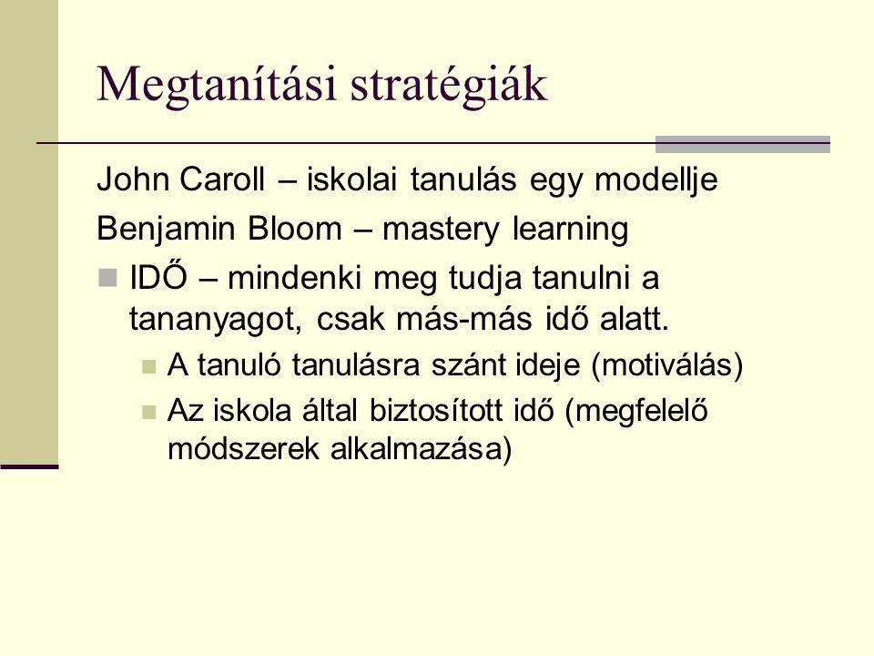 Megtanítási stratégiák