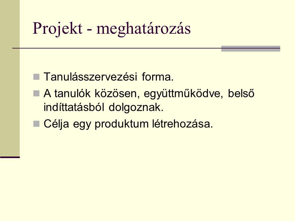 Projekt - meghatározás