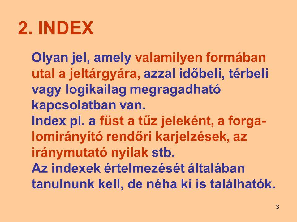 2. INDEX Olyan jel, amely valamilyen formában