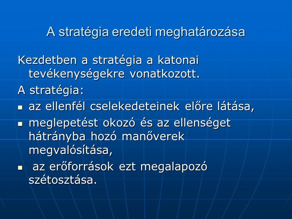 A stratégia eredeti meghatározása