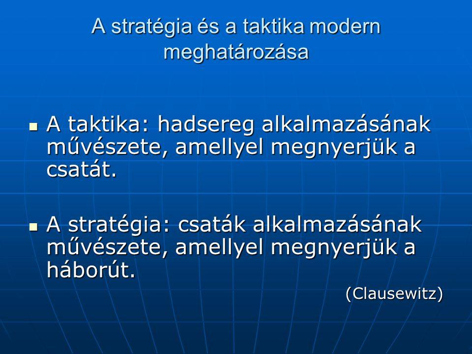A stratégia és a taktika modern meghatározása