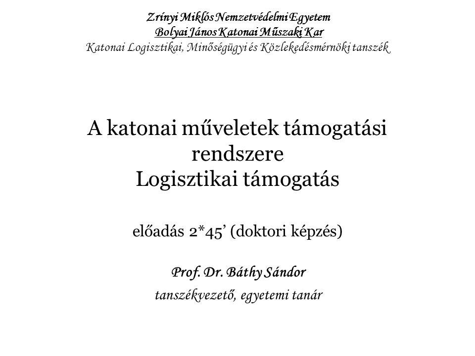 Prof. Dr. Báthy Sándor tanszékvezető, egyetemi tanár