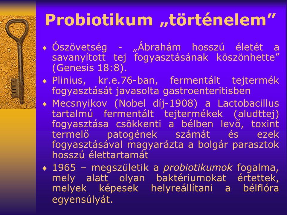 """Probiotikum """"történelem"""