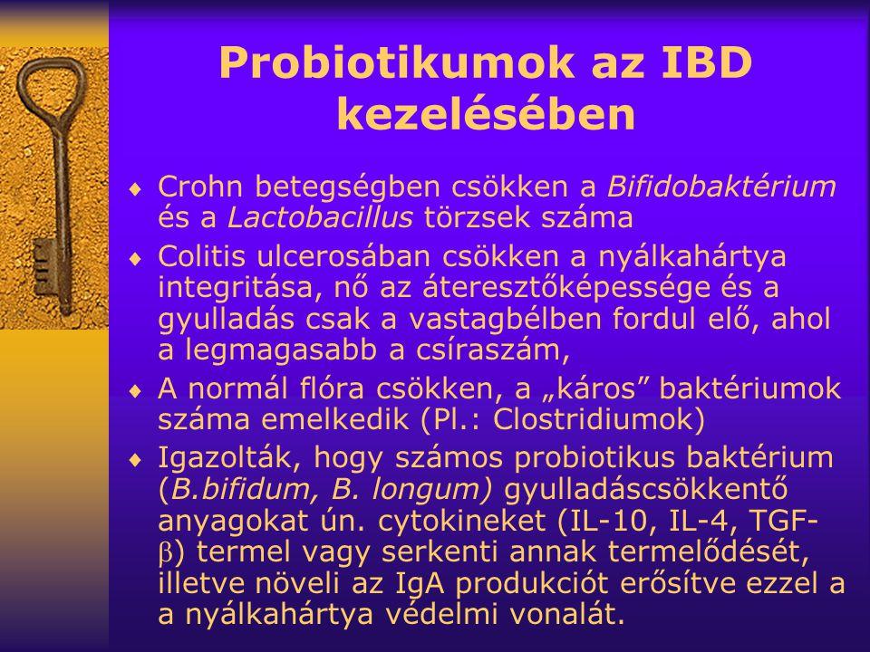 Probiotikumok az IBD kezelésében