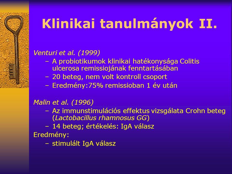 Klinikai tanulmányok II.