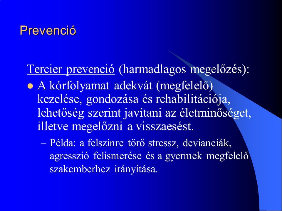 Tercier prevenció (harmadlagos megelőzés):