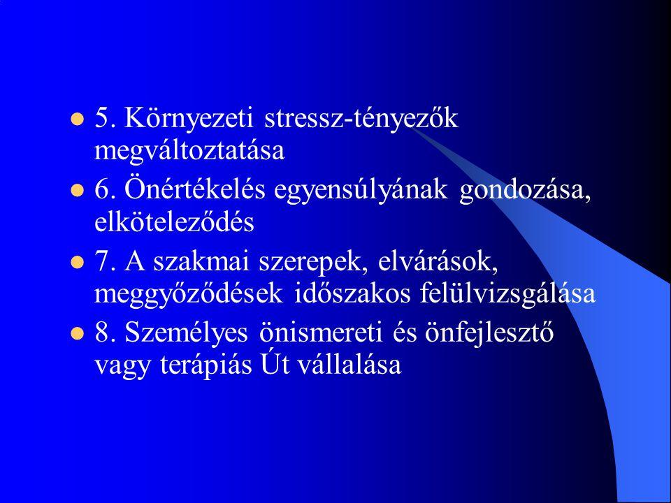 5. Környezeti stressz-tényezők megváltoztatása