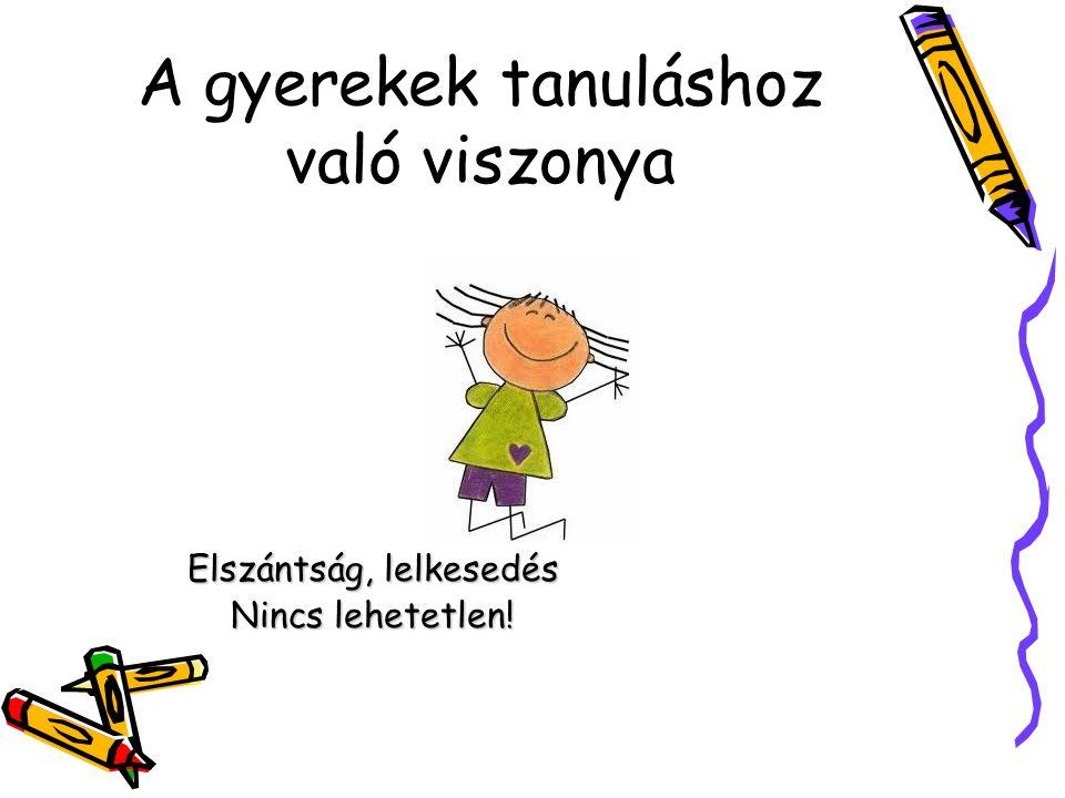A gyerekek tanuláshoz való viszonya
