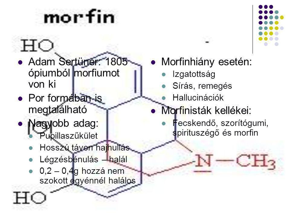 Adam Sertüner: 1805 ópiumból morfiumot von ki