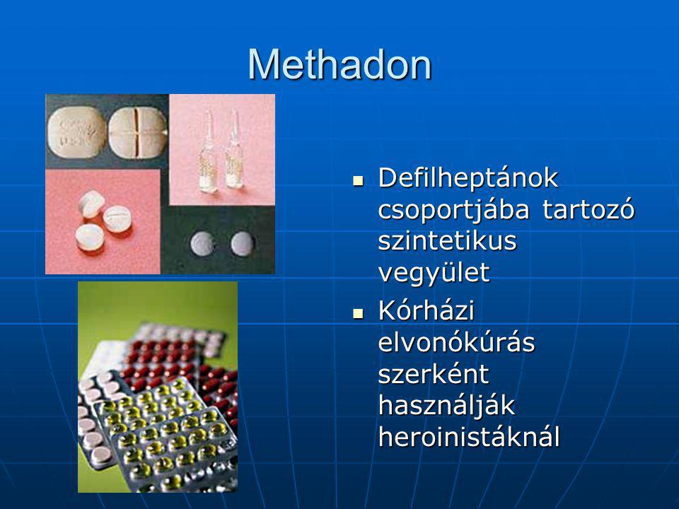 Methadon Defilheptánok csoportjába tartozó szintetikus vegyület
