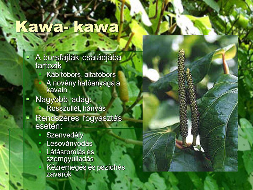 Kawa- kawa A borsfajták családjába tartozik Nagyobb adag: