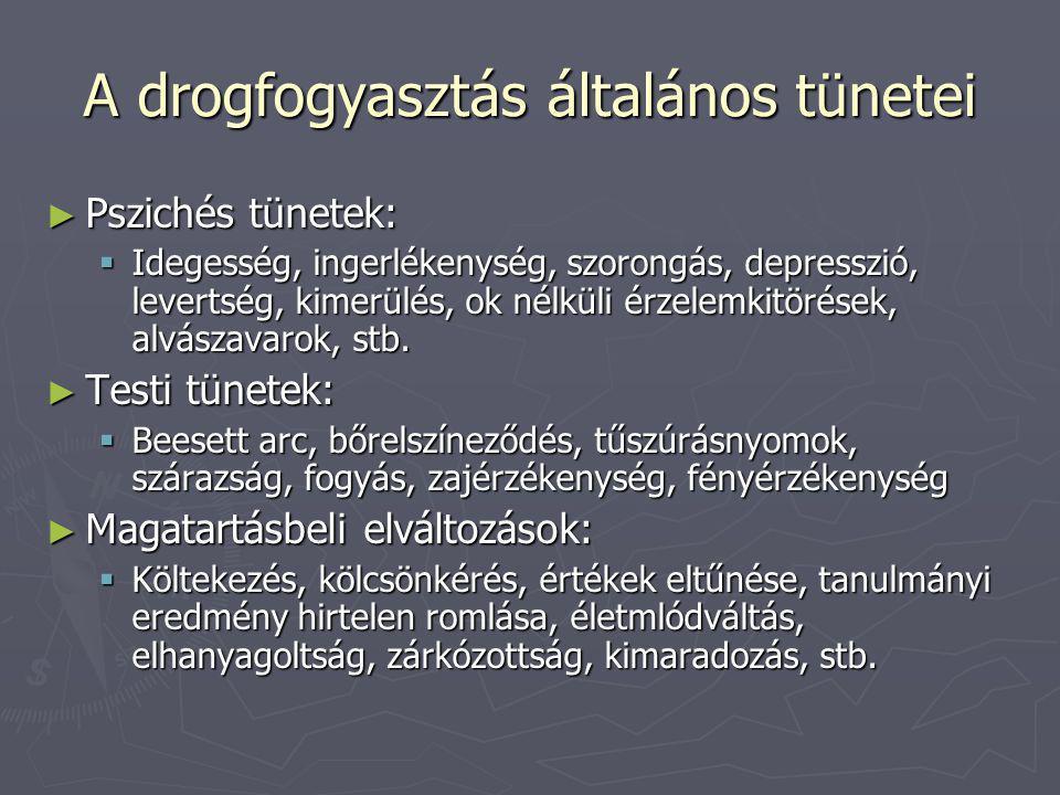 A drogfogyasztás általános tünetei